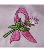 Ribbon Rose Sweatshirt 3XL Pink Crew Neck Breast Cancer Awareness Unisex... - $27.13