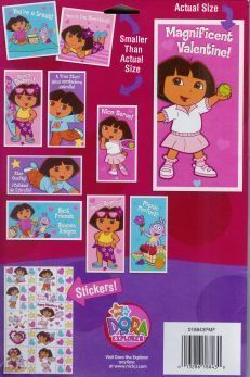 Dora the Explorer Strawberry Shortcake Foil Valentines 60 Cards Stickers Seals