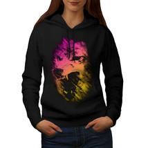 Wolf Colorful Face Animal Sweatshirt Hoody Graphic Print Women Hoodie - $21.99+