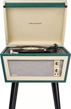 Sterling Mid Century Modern Green & Cream Stereo Record Player Turntable MCM New image 3