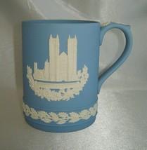 WEDGWOOD Blue Jasperware WESTMINSTER ABBEY Tankard Mug Cup, Christmas 1977 - $19.50