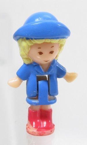 1991 Vintage Polly Pocket Doll Funtime Clock (blue) Rainy Day Polly Bluebird Toy