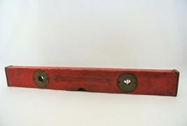"Stanley Level & Ruler Mar 25 1890 Cherry Brass 24"" Adjustable Antique Tool - $33.68"