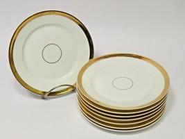 """8 Haviland Limoges Gold Band Bread Side Appetizer Plates 6 1/8""""  - $59.40"""