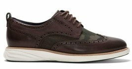 COLE HAAN GRANDEVOLUTION OXFORD LEATHER BROWN/CAMO SIZE 9 NEW W/BOX (C27... - $114.95