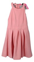 Women's Coral Skater Dress Pleated Sleeveless T-Back Lined Size-Large   ... - $32.71