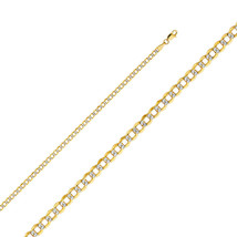 14k Two Tone Gold 3.4-mm Cuban Chain Necklace - $198.05+