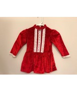 Cookie's Corner Red Velvet Dress Girls 5 Ruffle Collar Christmas Holiday - $14.85