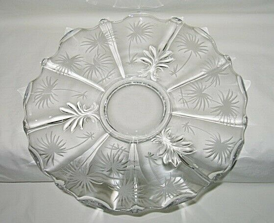 Primary image for Fostoria Lido Baroque Pattern 14-inch Torte Plate