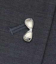 Jos A Bank Sunglasses Lapel Pin Tough Wise Guy Suit Accessory Silver Met... - $19.60