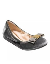 Cole Haan Women's Tali Bow Ballet, Grey Velvet, 9 B US - $57.59