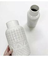 Textured Flower White Vase - $29.69