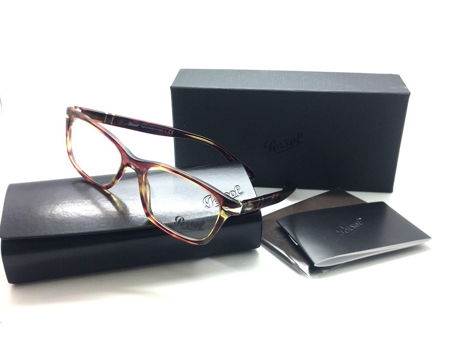 023b8da42e PERSOL Rx-able Eyeglasses 3012-V 1055 52-18 140 Brown Violet Turquoise Frame  -  106.67