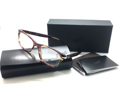 PERSOL Rx-able Eyeglasses 3012-V 1055 52-18 140 Brown Violet Turquoise F... - $106.67