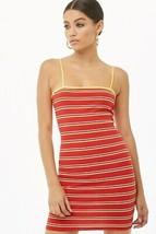 Forever 21 Striped Cami Mini Ribbed Shoulder Strap Stretch Bodycon Dress... - $7.59