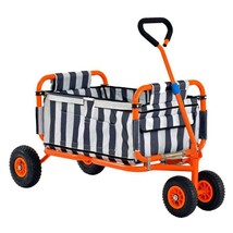 Folding Utility Cart 5 cu ft 200 Lbs Capacity Washable Stylish Heavy Dut... - $147.99
