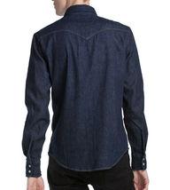 Levi's Men's Classic Barstow Western Casual Denim Dark Wash Dress Shirt image 3