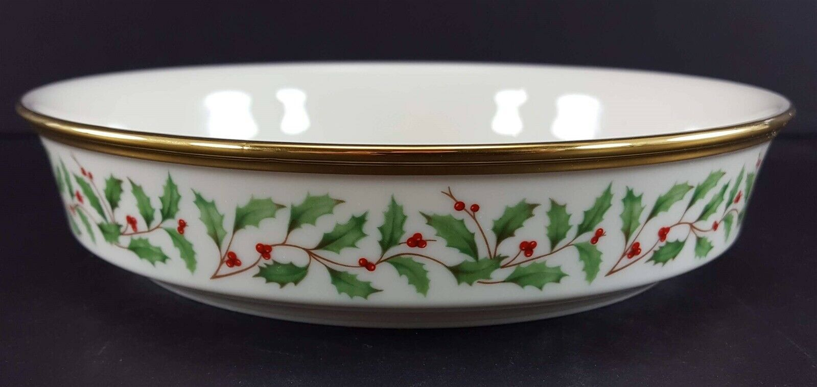 """LENOX China Holiday Dimension Coupe Soup Bowl 7-1/2"""" Dinnerware"""
