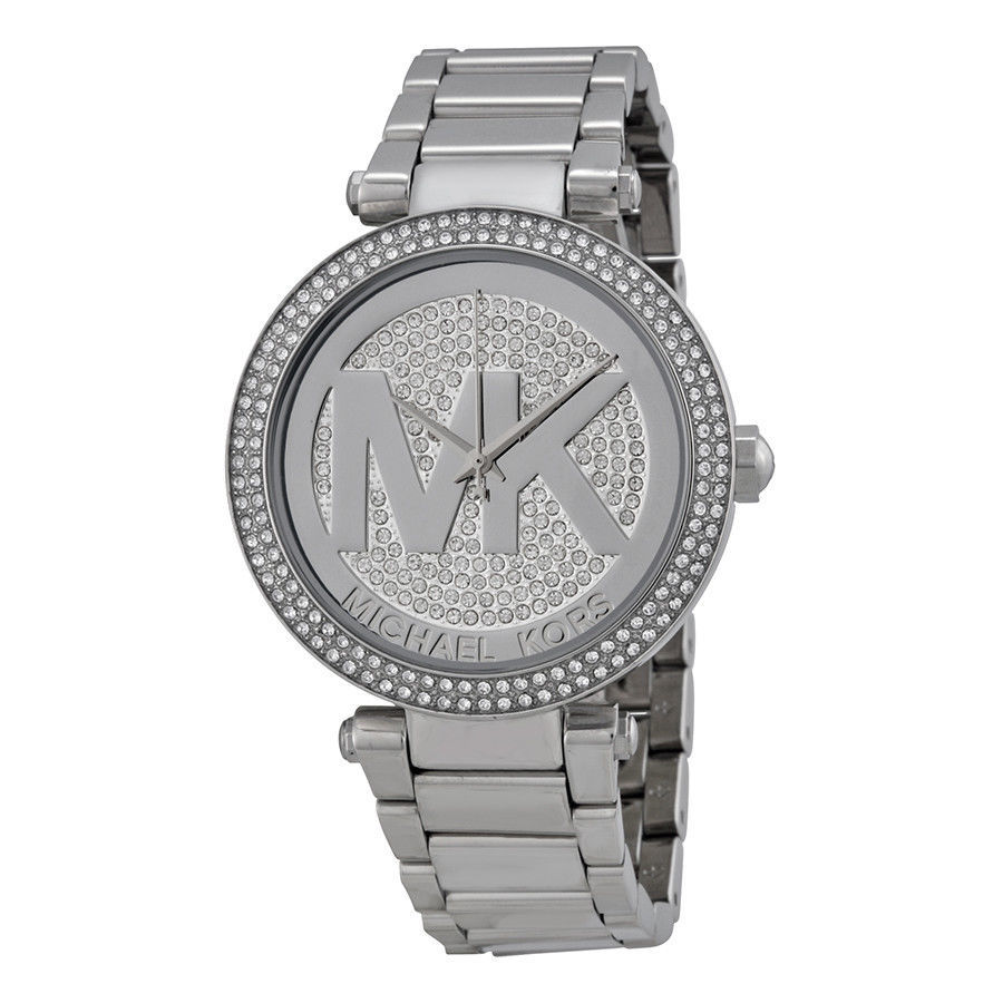 Primary image for Michael Kors MK5925  Parker Oversized Glitz Silver-Tone Women's Watch