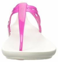 Crocs Women's Isabella T-Strap Sandal 10 Berry/Oyster - $40.10