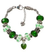 May Birthstone Charm Bracelet With European Bead Charms For Women and Gi... - $32.57