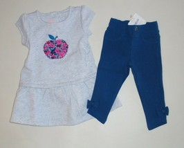Gymboree Girls Apple Embroidered Dress Jeggings 12-18 18-24 NWT - $19.99