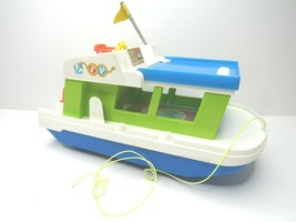 Vintage Fisher Price Happy Houseboat #985 1972 Family House Boat 1970s F... - $22.44