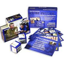 Positive Interactions Wooden Cube Language Builder Preschool Puzzle [Bra... - $38.79