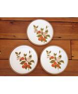 "Vtg Set 3 Mikasa Natural Beauty Treesweet Stoneware Dessert Plates 7.75""... - $31.99"
