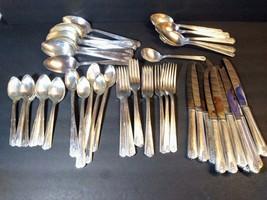 Oneida Community Silver Plate Linda 67 Pieces 12 Ice Tea Spoons Flatware... - $148.50