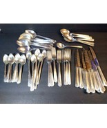 Oneida Community Silver Plate Linda 67 Pieces 12 Ice Tea Spoons Flatware... - $148.50