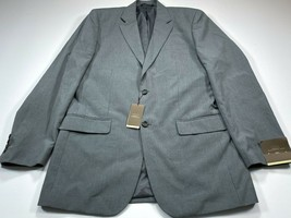Merona 42L Modern Fit Two-Button Suit Jacket Men's Gray Stripe 42 Long N... - $49.99