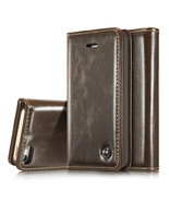 Luxury Wallet Case for iPhone SE 5S 5 Genuine Real Leather Flip Cover Ki... - $7.99