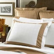 LAUREN Suite Pieced by Ralph Lauren CAMEL WHITE One Standard PILLOW Sham... - $89.97