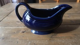 Genuine Fiesta Gravy Boat Cobalt Blue 7.75 x 4.5 inches - $49.49