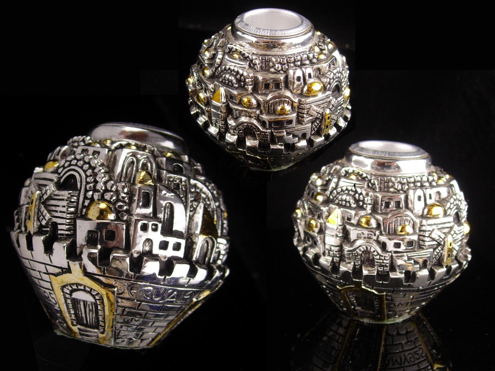 Jerusalem Candle holder - Amy 925 - Sterling Silver Old ...