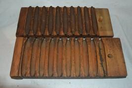 Antique Vintage Wooden 2 Piece, Cigar Mold Press  - $121.54