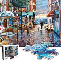 Jigsaw Puzzle 1000 Pieces for Adults, Water Resist Wooden Puzzle, VCOMO Thickene