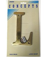 """Taymor Concepts 27-BL6L Solid Brass 6"""" House Letter L - $3.96"""