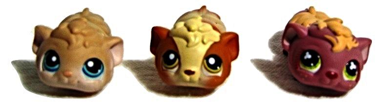 LPS--Guinea Pigs  X  3///2-2005 & 1- 2007--Hasbro - $9.50