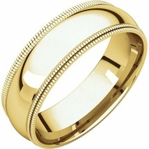 10k Yellow Gold 6 mm High Polished Comfort Fit Double Milgrain Wedding R... - $217.80+