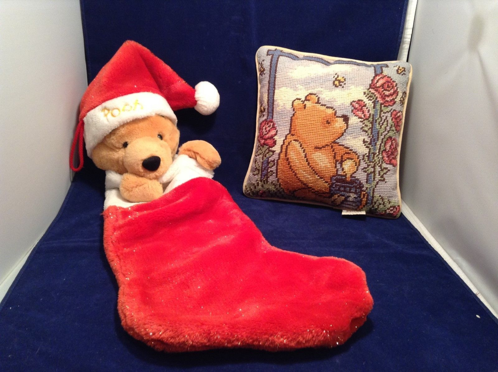 Winnie The Pooh Pillow and Stocking Set