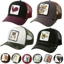 Goorin Bros Snapback Mesh Cap Animal Farm Trucker Hat Tiger Rooster Freedom Tuna