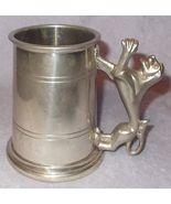 Vintage Lion Handle Tankard Mug Glass Bottom Lunt Pewter Sheffield Engla... - $39.95