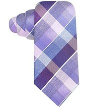 Alfani Colorblocked Grid Plaid Print Skinny Neck Tie Silk iMSRP $49.50 - $16.34