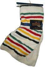 Pendleton 50 X 70 Glacial Park Stripe Reversible Sherpa Fleece Throw Bla... - $125.58