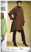 8545 Vogue Patrón de Costura Misses Suelto Ajuste Chaqueta Pantalones Mujer - $9.86