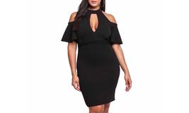 Women's Halter Hollow Out Bodycon Midi Dress - $24.99