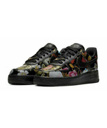 Women's Air Force 1 '07 LXX Black Floral Size 7 Sneakers AO1017-002 - $133.65