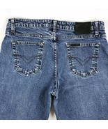 Harley-Davidson Motorcycles Mid Rise Boot Cut Denim Jeans Womens 12 P 32x28 - $24.64